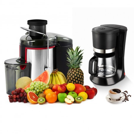 Set Breakfast Juicer 500w 2 Speed Coffee Black 1 2l Pem